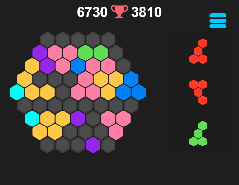 Play Hex puzzle game online - 123 best hexagon puzzle ...