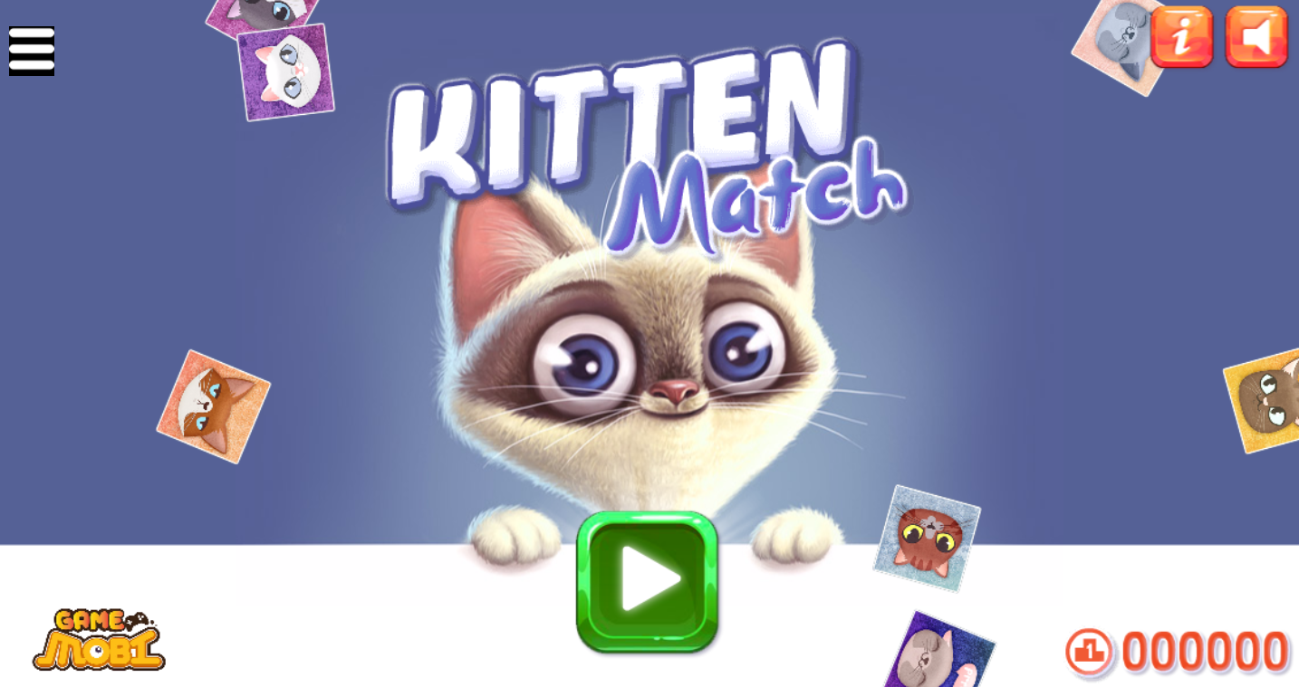 game kitten match