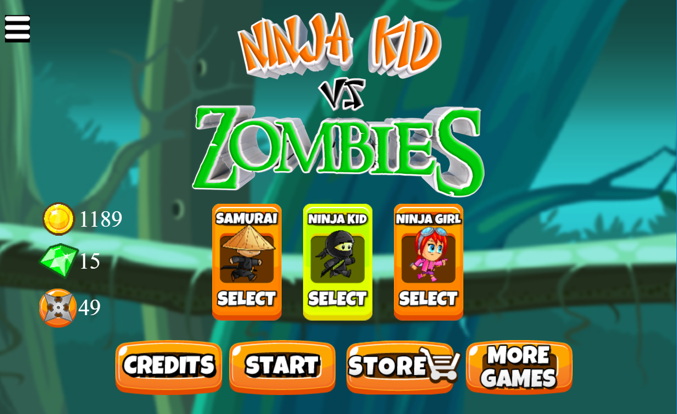 game Ninja Kid vs Zombies