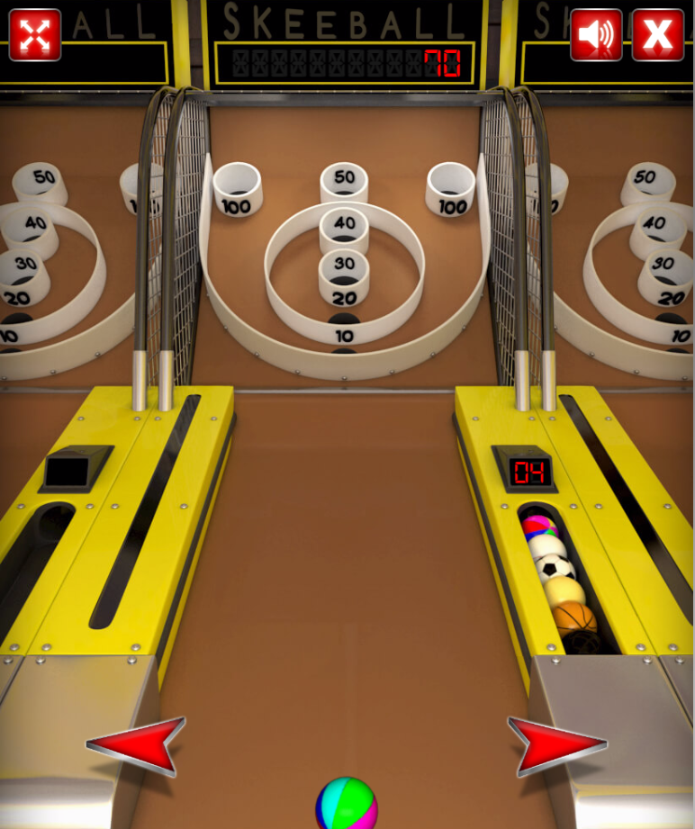 play Skee-ball game
