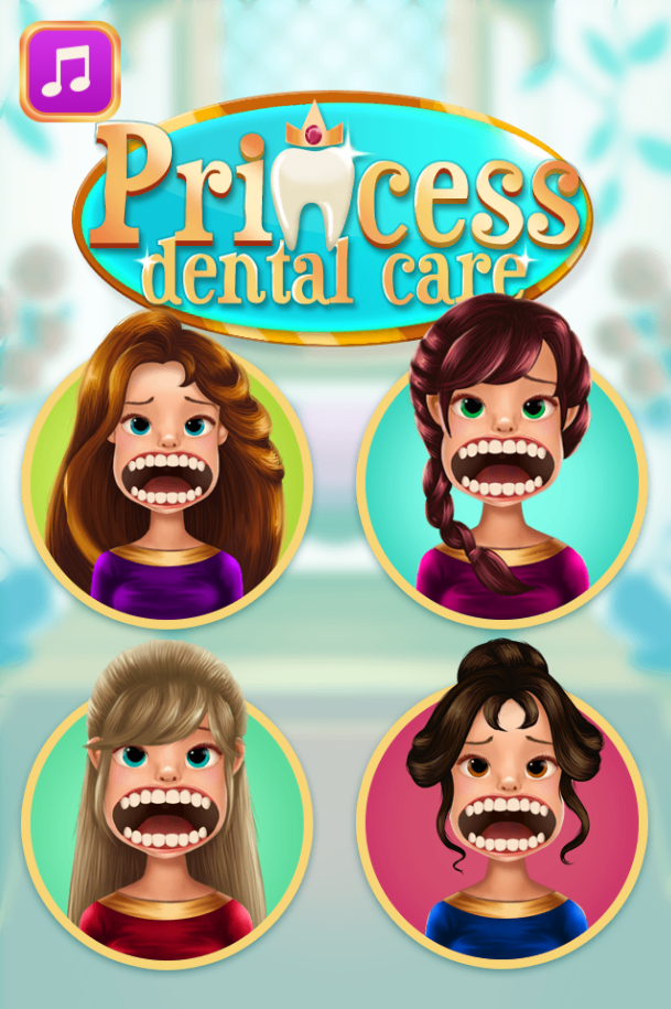 Princess dentist - Princess games for girls