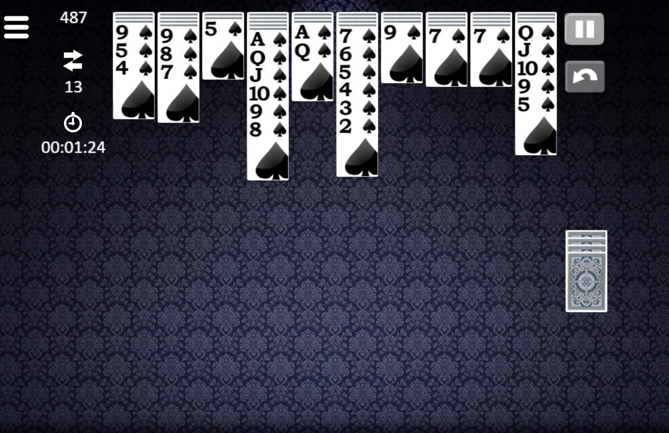 game Spider solitaire classic
