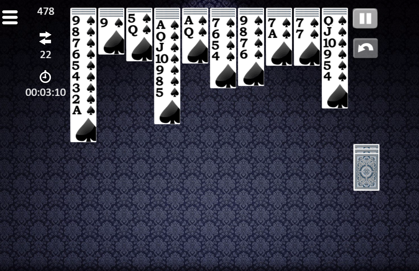 spider solitaire card games free