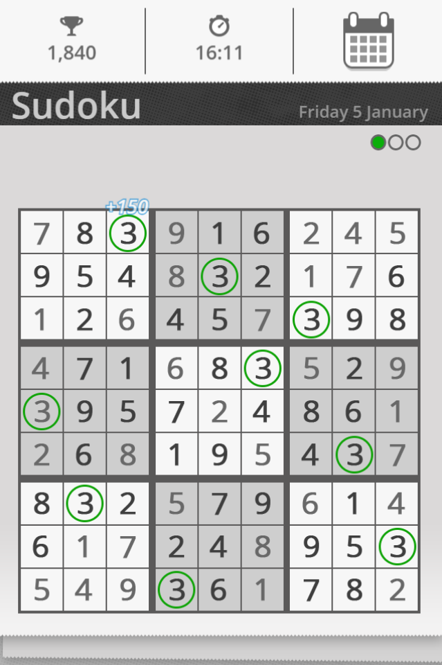 The daily Sudoku game