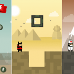 Action game to suppress hero vs square