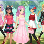 Play Fashion Anime games for girl on mobile