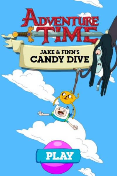 Action Games Finn and Jake's Candy Dive at miniclip unblocked