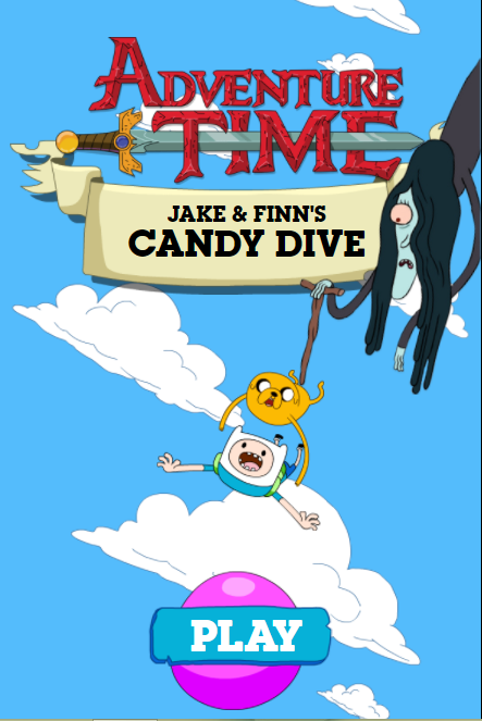Finn and Jake Candy Dive