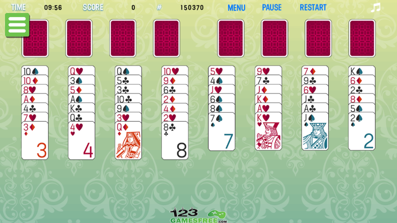 Play game Freecell 123 solitaire - Free online solitaire games