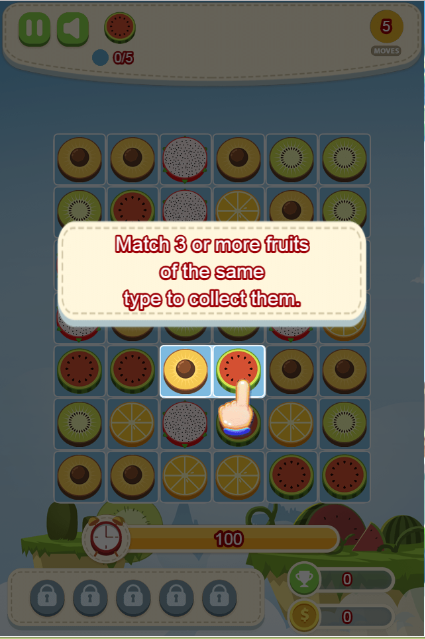 Fruit candy shop game