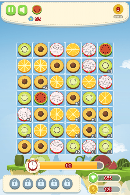 game Fruit candy shop