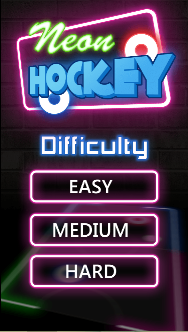 Game Neon hockey