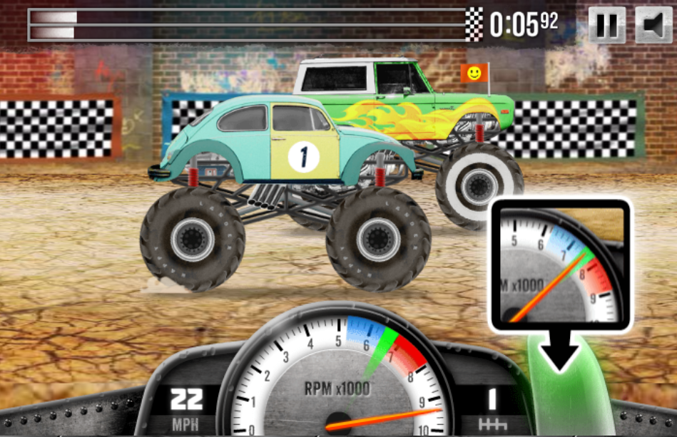 Game Racing monster trucks