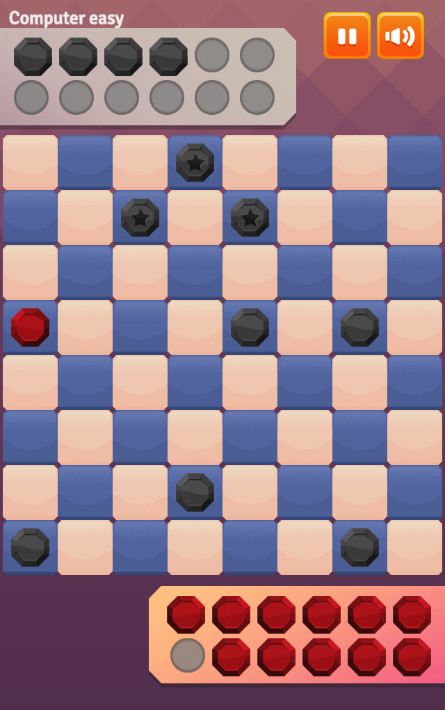 Game Two player checkers