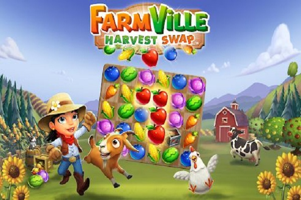 Actions game online FarmVille: Harvest Swap
