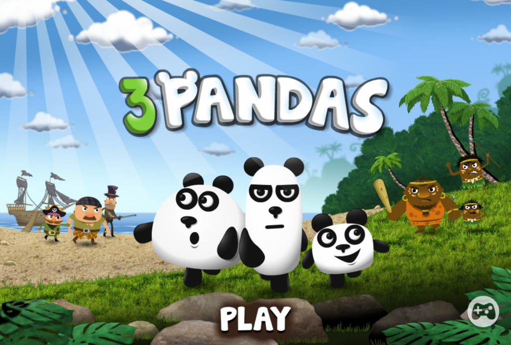 "In 3 pandas games just click the ""play now"" button to start the game"