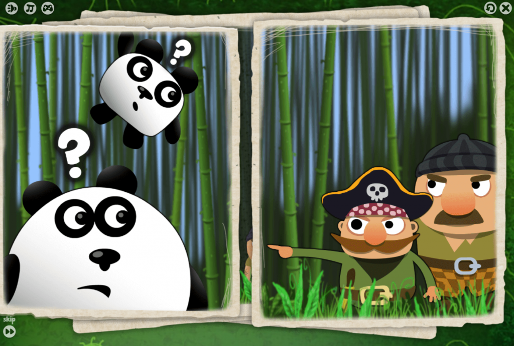 Your task here is use your mouse to move the pandas, make them jump, and use special abilities