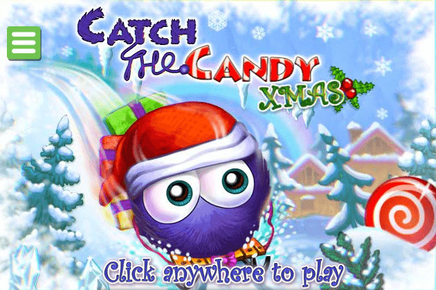 "At the start of catch the candy xmas games we need to hit ""play now"""