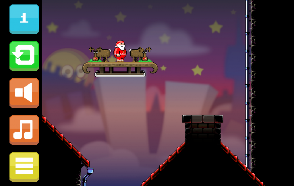 With the help of his trusty reindeer, Santa needs to land in every chimney