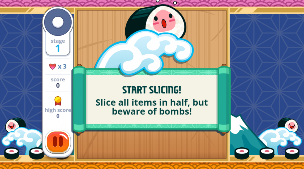 "Once in sushi games just click the ""play now"" button to enjoy the game"