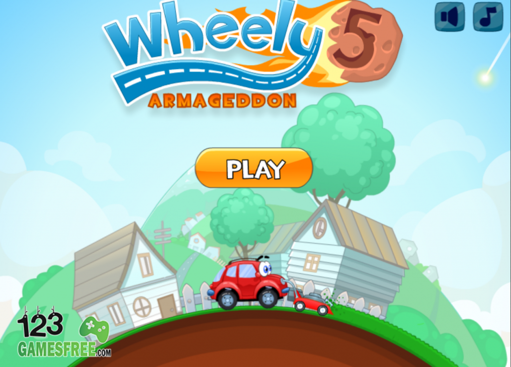 "Once you enter cool math wheely 5 games you just click the ""play now"" button to start the game"