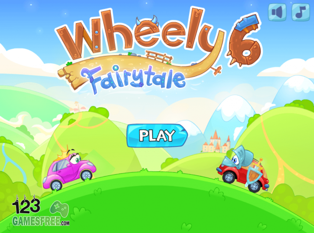 Play game Wheely 6 fairytale - Free online Arcade games