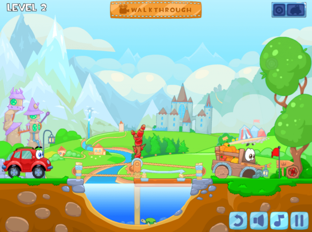 Playing this game helps children to be clever with their hands, improve their logical thinking