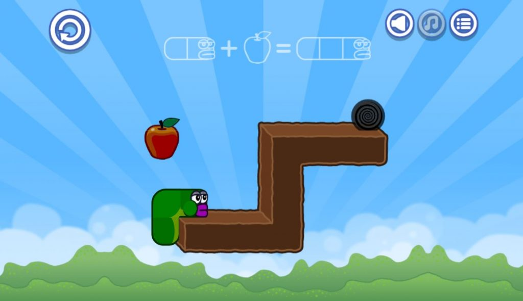 apple worm game