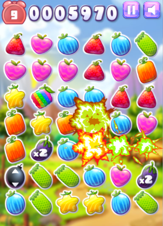 game fruit match